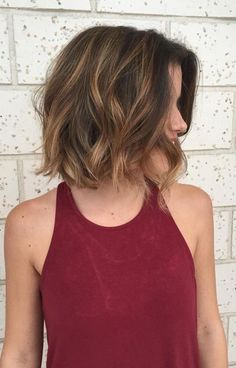 Brilliant Hair Color Solutions for Short Hairstyles 2017 Brunette Balayage
