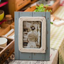 Vintage Countryside Style Wooden Photo Frame For Home Living Room Bedroom Desk Mediterranean Decor Craft(China (Mainland))