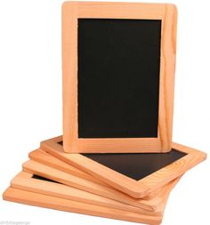 "4"" x 6"" Synthetic Chalkboard With Unfinished Wood Frame -Pack of 6 Chalkboards"