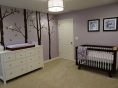 Nature themed nursery for a baby girl