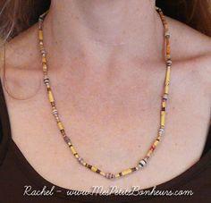 Bricolage enfant pour la Fête des Mères: fabriquer un collier de perles en papier