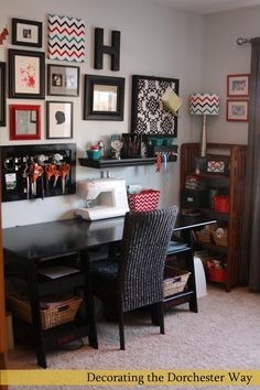 Decorating the Dorchester Way: Craft Room Reveal - this is a beautiful and ORGANIZED craft room!!