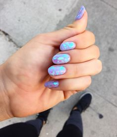 shattered glass nails | @blogilates