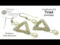 Triad Earrings YouTube free jewelry-making tutorial, with all supplies from Potomac Bead Company (www.potomacbeads.com