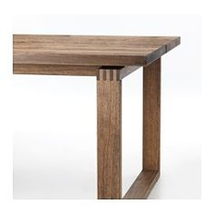 MÖRBYLÅNGA Table – oak veneer brown stained – IKEA – Keep up with the times. Table Furniture, Rustic Furniture, Furniture Design, Furniture Ideas, Smart Furniture, Floating Table, Muebles Living, Walnut Table, Dinning Table