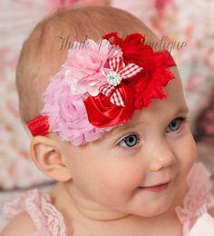 Baby Headbands Baby headbandRed by ThinkPinkBows on Etsy
