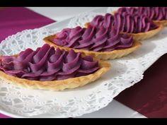 purple yam tarte 紅芋タルト作り方 レシピ なんちゃって紅芋タルト♪ - YouTube