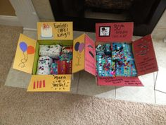 30th birthday care packages made by me! :)