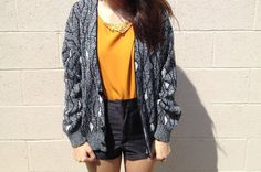 Vintage Oversized Cardigan with Geometric by TeenageRoleModels, $20.00