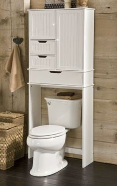 I like this idea for a small bathroom with less storage space