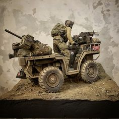 1/6 ATV - Album on Imgur Tactical Response, Atv Trailers, Military Special Forces, Green Beret, Military Modelling, Military Pictures, Special Ops, Plastic Model Kits, Plastic Models