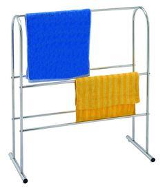 Free Standing Towel Rail #sabichi #bathroom #laundry #chrome #plated #5shelves #homedecor #interiors