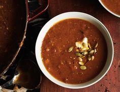 Pumpkin, Chestnut & Chorizo Soup