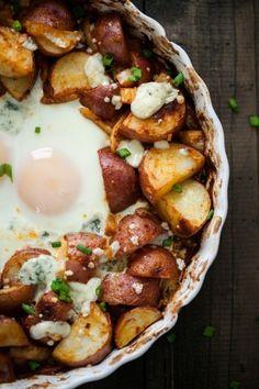 Easy Smoked Paprika Red Potatoes and Egg Bake   @naturallyella
