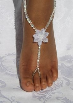 e8529f184d8d1c Footless Sandal Barefoot Sandal Foot Jewelry Beach themed wedding Footless  Sandals