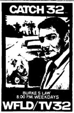 42 best vintage chicago tv guides and magazines images chicago tv 1970 Chevy Nova catch 32 ad of burke s law on wfld tv channel 32 march 4 1972