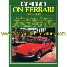 Car & driver on Ferrari 1963-1975 / Brooklands / Brooklands  book in english  1985  Brooklands  100 pages  20cm x 27cm