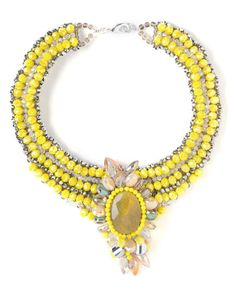 Nakamol Beaded Collar Statement Necklace