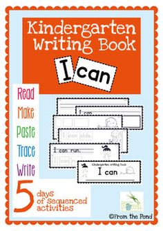 Kinder Writing Book  I can ...