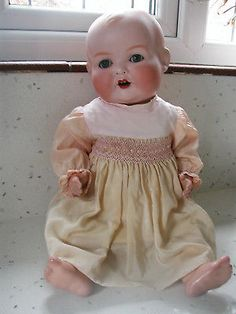 "17"" Armand Marseilles Antique Bisque-Head Baby Doll marked AM 518/5k circa 1920"