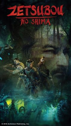 Call Of Duty Black Ops 3 Zetsubou No Shima Art Poster Easter Egg Zombies Silk Cod Zombies, Black Ops 3 Zombies, Zombie Wallpaper, Call Of Duty Zombies, Black Light Posters, Zombie Art, Black Ops 4, Great Backgrounds, Call Of Duty Black