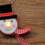 tea light snowman craft
