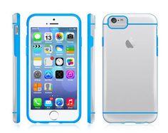 Blue Color iPhone 6 Plus Case Slim Transparent Crystal Clear Hard TPU Cover #53 #UnbrandedGeneric
