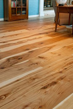 Comfortable Living Room Hickory Floor Fresh Harvest Character Hickory Flooring Kitchen In 2019 Cheap Wood Flooring, Wide Plank Flooring, Flooring Ideas, Laminate Flooring, Flooring Options, Flooring 101, Hickory Wood Floors, Light Hardwood Floors, Ladders