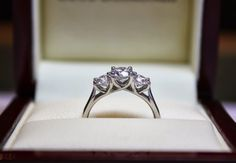 Platinum trilogy engagement ring from a happy customer....and yes, she did say 'I do'