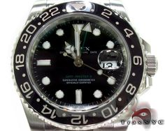 This Rolex is one of the signature timepieces in the Rolex Collection. The GMT originally developed in collaboration with Pan Am Airways and worn were by their pilots during transcontinental flights. This Rolex GMT II features self winding technology 31 jewel movement Rolex quickest and a Rolex oyster bracelet. The beautiful black ceramic bezel is resistant to ultra violet rays and feature 24 hour time. With its brilliant black dial this watch is superb for any occasion and perfect with any…