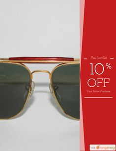 Get 10% OFF on select products. https://orangetwig.com/shops/AAA0zeW/campaigns/AABN8cs?cb=2015009&sn=RayBanVintageShop&ch=pin&crid=AABN8ca