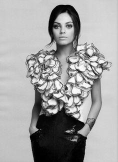 Mila Kunis. Stunning B&W.