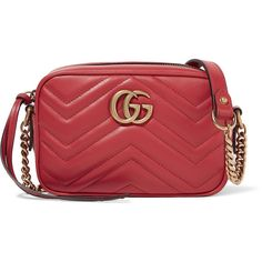 Gucci GG Marmont Camera mini quilted leather shoulder bag (€835) ❤ liked on Polyvore featuring bags, handbags, shoulder bags, red, camera shoulder bag, gucci handbags, gucci crossbody, red crossbody purse and crossbody purses