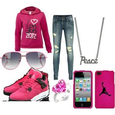 Polyvore - All Pink Everything