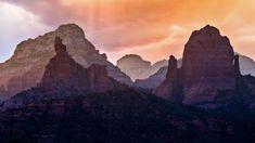 https://flic.kr/p/Pnm8eh | Sedona In Layers | This is a composition I found and shot a number of years ago that I re-shot last night with newer equipment and a favorable sunset sky. Flattening the perspective of these Sedona area formations with a telephoto lens really gives the scene a rugged, layered look. The closest formation on the left is the Morning Glory Spire with the Cibola Mitten to the right.