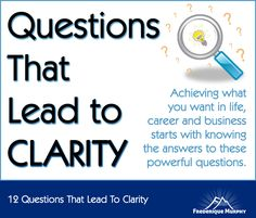 12 Questions That Lead To Clarity | Frederique Murphy | Mountain Moving Mindset | Inspiration | Strategy | Leadership | Neuroscience