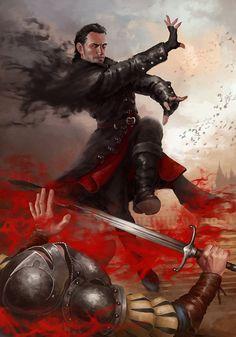Dettlaff van der Eretein by Lilia-Anisimova on DeviantArt Fantasy Kunst, Fantasy Rpg, Dark Fantasy Art, Medieval Fantasy, Fantasy Artwork, Fantasy World, Fantasy Witch, The Witcher Game, The Witcher Books