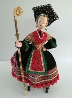 Doll Costume, Costumes, Sven, Spanish Costume, Vintage Dolls, Ethnic, Characters, Type, Christmas Ornaments