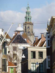 Martinitoren in Groningen, Nederland/The Netherlands. door Cityfan  original tips for citytrips. Lees meer over Groningen op http://www.cityfan.nl/nederland/groningen/info-stad/