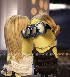 Brittany and Madonna minions