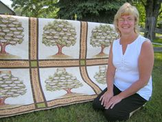 family tree quilt | Nancy Frantz shows off her hand-made Family Forest Quilt.Photos by ...