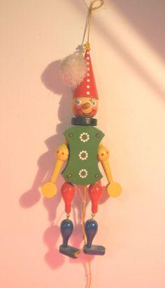 Christmas German Man OR Woman  Jumping Jack Ornament VINTAGE SUPER CUTE
