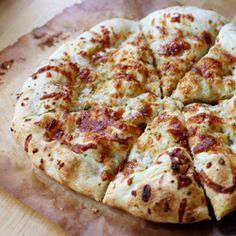 Homemade pizzeria-style garlic cheesy bread!