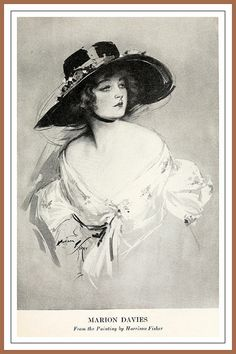 1919 Screen Star Marion Davies painting by Harrison Fisher | Flickr - Photo Sharing!