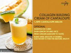 Cream of cantaloupe smoothie