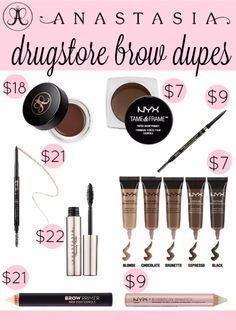 Best Drugstore Makeup Dupes- Anastasia Brow Drugstore Dupes - Simple DIY Tutorials That Cover The Best Drugstore Dupes And Products For Foundation, Contouring, Lipsticks, Eye Concealer, Products For Oily Skin, Dupe Brushes, and Primers From 2016 And Places Like Target. These Are Cheap And Affordable - https://thegoddess.com/best-drugstore-makeup-dupes