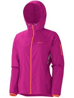 Marmot Trail Wind Hoody - Women's Jackets MD Lipstick ** Check this awesome product by going to the link at the image.
