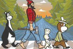 Minnesota Icons:  the Hamm's beer bear, Paul Bunyan, the Pillsbury doughboy & the Minnesota State Fair's gopher mascot, Fairchild.