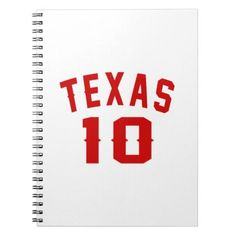 #Texas 10 Birthday Designs Spiral Notebook - #giftidea #gift #present #idea #10th #tenth #bday #birthday #10thbirthday #party #teen