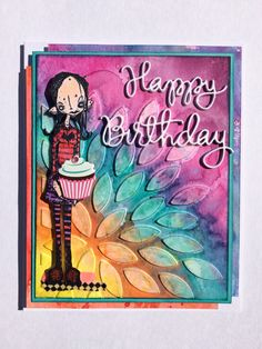 Birthday card for my daughter. I love how it turned out! Stampotique stamp, PTI die and distress inks. (Made by Debi Pursley)